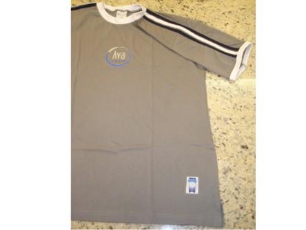 Camiseta manga curta, cinza