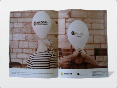 Anúncio, Página Dupla, Revista, Colorida