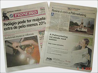 Anúncio, Página, Jornal Pioneiro
