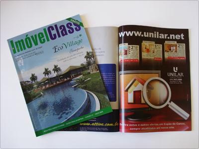 Anúncio de uma Página, revista Imóvel Class