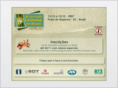 III Jornada Lyonesa no Brasil, Evento, Newsletter Estática