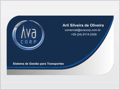 Ava Corp, Cartão de Visita, Frente