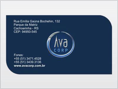 Ava Corp, Cartão de Visita, Verso