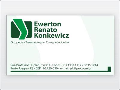 Dr. Ewerton, Cartao de Visita