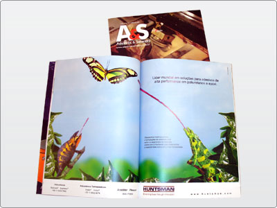 Huntsman, Anúncio página Dupla, Revista A&S, 1a