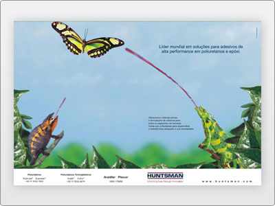 Huntsman, Mídia Impressa, Anúncio Página Dupla, revista A&S, 1b