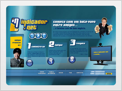 Indicador.Net, Web, Site