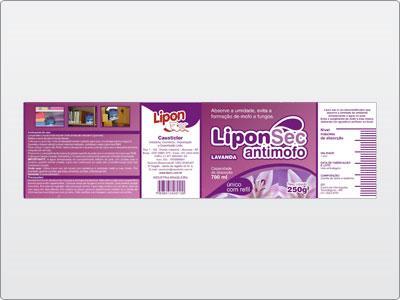 Lipon, Embalagem, Rótulo, LiponSec Antimofo, Lavanda