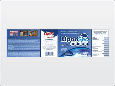 Lipon, Embalagem, Rótulo, LiponSec Antimofo, Neuto