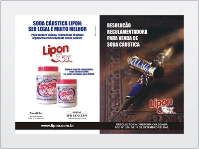 Lipon, Impresso, Folder, Soda, Frente
