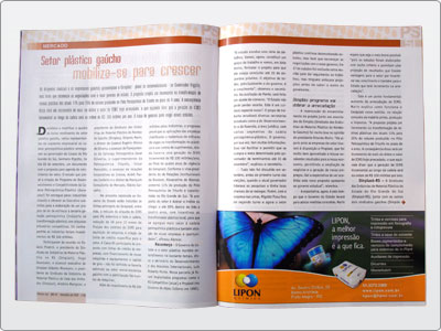Lipon, Midia Impressa, Anúncio, Um terço de Página, Borboleta