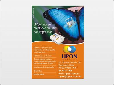 Lipon, Midia Impressa, Anúncio, Uma Página, Borboleta