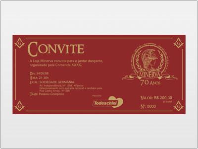 Minerva, Impresso, Convite, Jantar Dançante