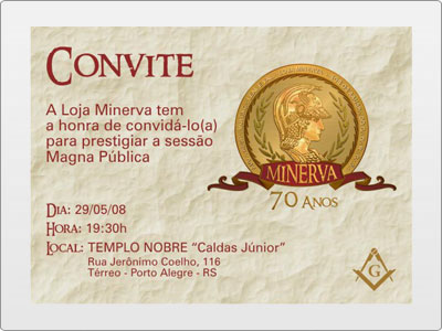 Minerva, Impresso, Convite, Sessão Magna Pública