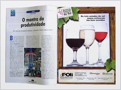 Polimarketing, Mídia impressa, Anúncio Revista, Uma Página 7