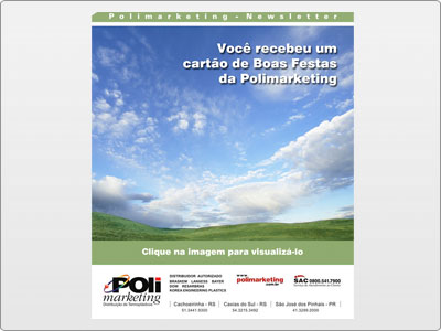 Polimarketing, Newsletter Animada em Flash, Boas Festas