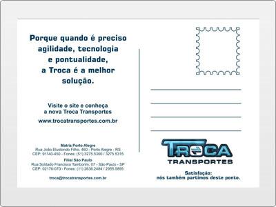 Troca Transportes, Impresso, Postal Verso