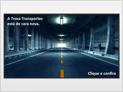 Troca Transportes, Newsletter Animada em Flash, Apresentação