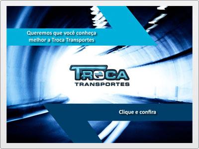 Troca Transportes, Newsletter  Interativa em Flash, Apresentação