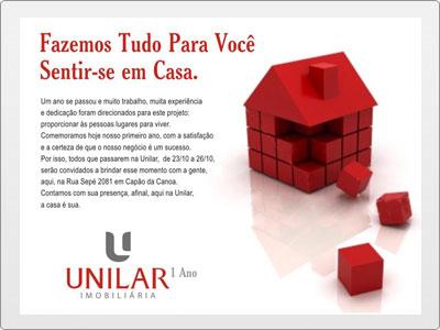 Unilar, Newsletter Estática, Casa com Blocos