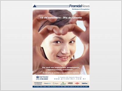 Piramidal: Newsletter, Animada, 15 de Setembro Dia do Cliente, Coração
