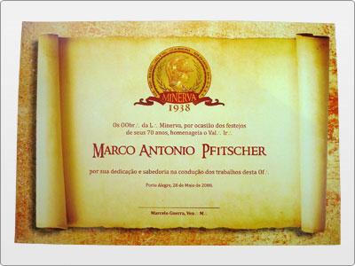 Minerva, Impresso, Diploma