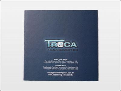 Troca Transportes, Impresso, Folder 01