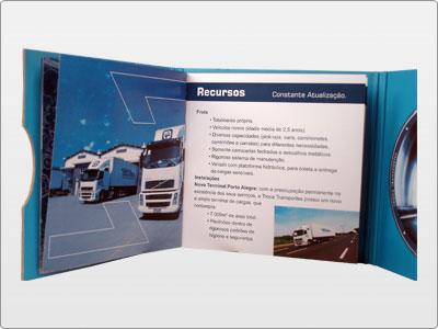 Troca Transportes, Impresso, Folder 02