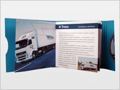 Troca Transportes, Impresso, Folder 05