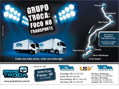 Grupo Troca Transportes: Impresso, Volante