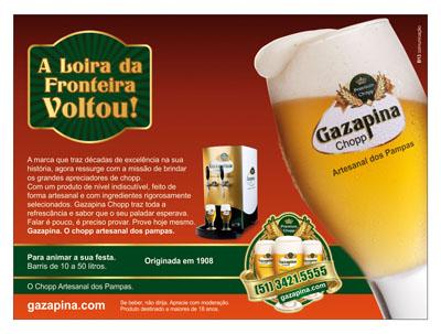 Gazapina, anúncio