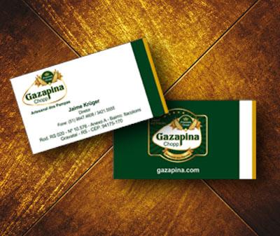 Gazapina, cartão de visita