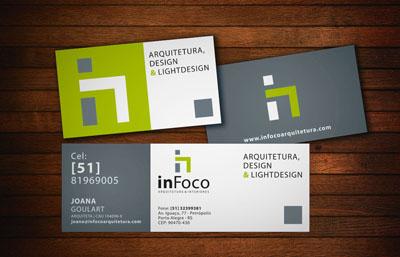 Infoco, cartão de visita