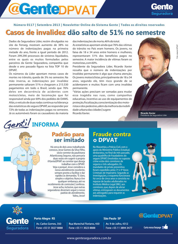 Gente Seguradora: Newsletter @GenteDPVAT