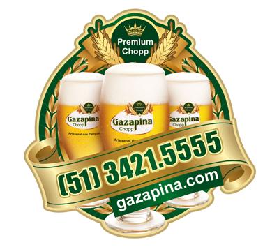 Gazapina, selo, imã de geladeira, adesivo